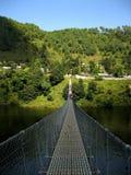 吊桥 免版税库存照片