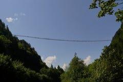 吊桥Highline 179 图库摄影