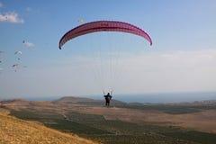 吊滑翔机海山 图库摄影