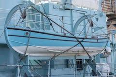 吊艇架的HMS骑士捕鲸船 库存照片