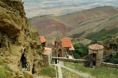 吊艇架Gareji修道院复合体,乔治亚 库存图片