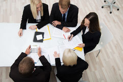 同事在业务会议 免版税库存照片