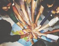同学团结队小组公共概念 免版税库存图片