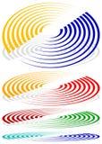 同心圆,信号,螺旋形状 更多上色包括 皇族释放例证