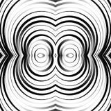 同心圆,圆环抽象样式 单色几何 图库摄影