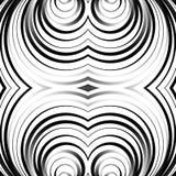同心圆,圆环抽象样式 单色几何 免版税图库摄影