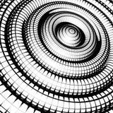 同心管遮蔽与网格图形黑色白色 库存照片