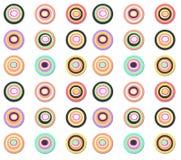同心色的光点图形 免版税库存图片