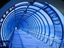 同心蓝色隧道 图库摄影