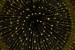 同心金子点燃环形黄色 图库摄影
