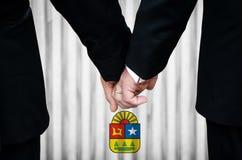 同性婚姻在金塔纳罗奥州 免版税库存照片
