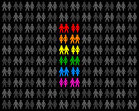 同性恋夫妇 向量例证