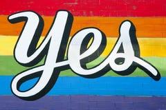同性恋婚姻的标志 库存图片