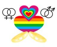 同性恋婚姻图标 免版税库存图片