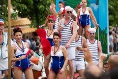同性恋游行在锡切斯 免版税库存图片