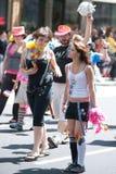 同性恋游行自豪感新西雅图的妇女 库存图片