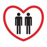 同性恋爱象 库存例证