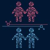 同性恋者夫妇 免版税库存照片