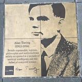同性恋者步行,彩虹荣誉步行,艾伦・图灵 免版税库存图片