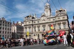 同性恋自豪日到位des Terreaux 库存图片