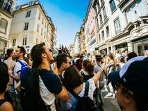 同性恋自豪日在法国中心广场 图库摄影