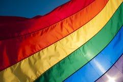 同性恋自豪日彩虹旗子背景 免版税库存图片