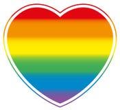 同性恋自豪日心脏彩虹色的爱 库存例证