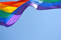 同性恋自豪日旗子在旧金山 库存图片
