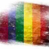 同性恋自豪日旗子 免版税库存图片