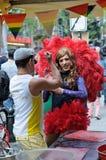 同性恋自豪日游行在布鲁塞尔 免版税库存照片
