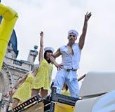 同性恋自豪日游行在布鲁塞尔 库存照片