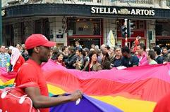 同性恋自豪日游行在布鲁塞尔 图库摄影