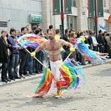 同性恋自豪日游行在布鲁塞尔 库存图片