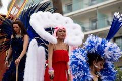 同性恋自豪日游行在锡切斯 库存图片
