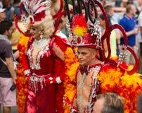 同性恋自豪日游行在锡切斯 免版税库存照片