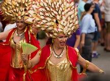 同性恋自豪日游行在锡切斯 免版税图库摄影
