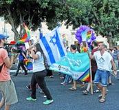 同性恋自豪日游行在Jurusalem 2014年 库存照片