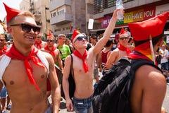 同性恋自豪日游行特拉唯夫2013年 库存照片