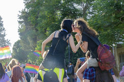 同性恋自豪日游行,塞浦路斯 免版税图库摄影