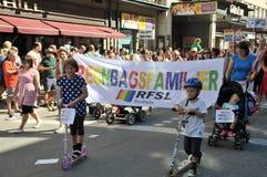 同性恋自豪日游行2013年在斯德哥尔摩 免版税库存照片