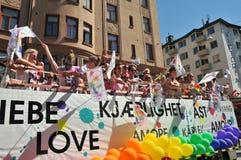 同性恋自豪日游行2013年在斯德哥尔摩 免版税库存图片