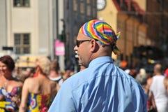 同性恋自豪日游行2013年在斯德哥尔摩 免版税图库摄影