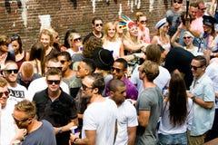同性恋自豪日运河游行阿姆斯特丹2014年 库存照片
