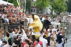 同性恋自豪日运河游行阿姆斯特丹2014年 图库摄影