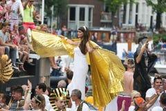 同性恋自豪日运河游行阿姆斯特丹2014年 免版税库存照片