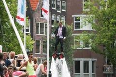 同性恋自豪日运河游行阿姆斯特丹2014年 库存图片