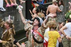 同性恋自豪日运河游行阿姆斯特丹2014年 免版税图库摄影