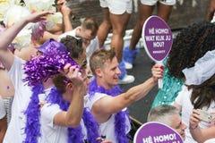 同性恋自豪日运河游行阿姆斯特丹2014年 免版税库存图片