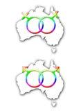 同性澳洲的婚姻 库存图片