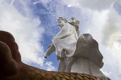 同情和慈悲女神雕象 免版税库存照片
